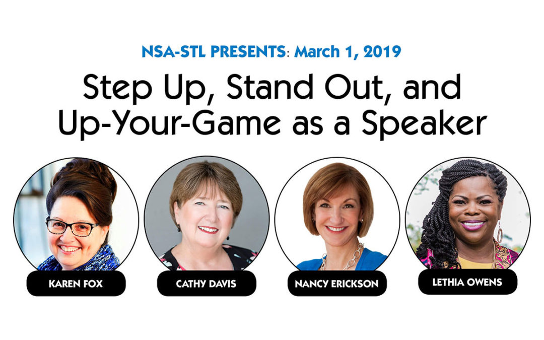March 1 – Stand Up, Stand Out, and Up-Your-Game as a Speaker