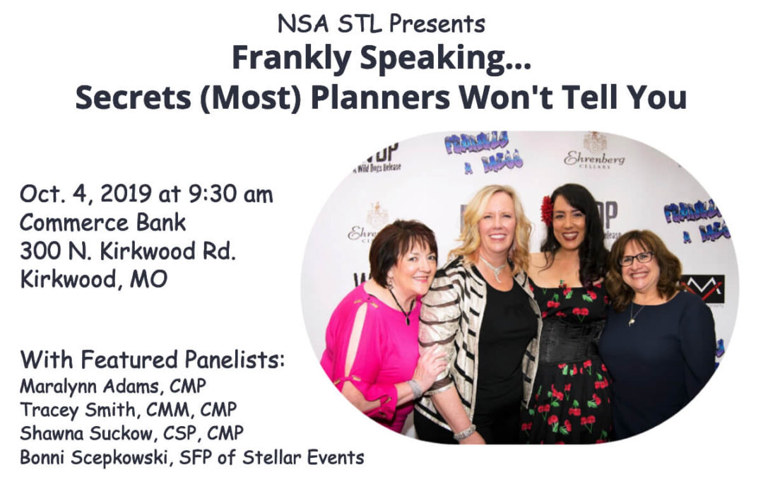 Oct. 4 – Frankly Speaking: Secrets (Most) Planners Won't Tell You