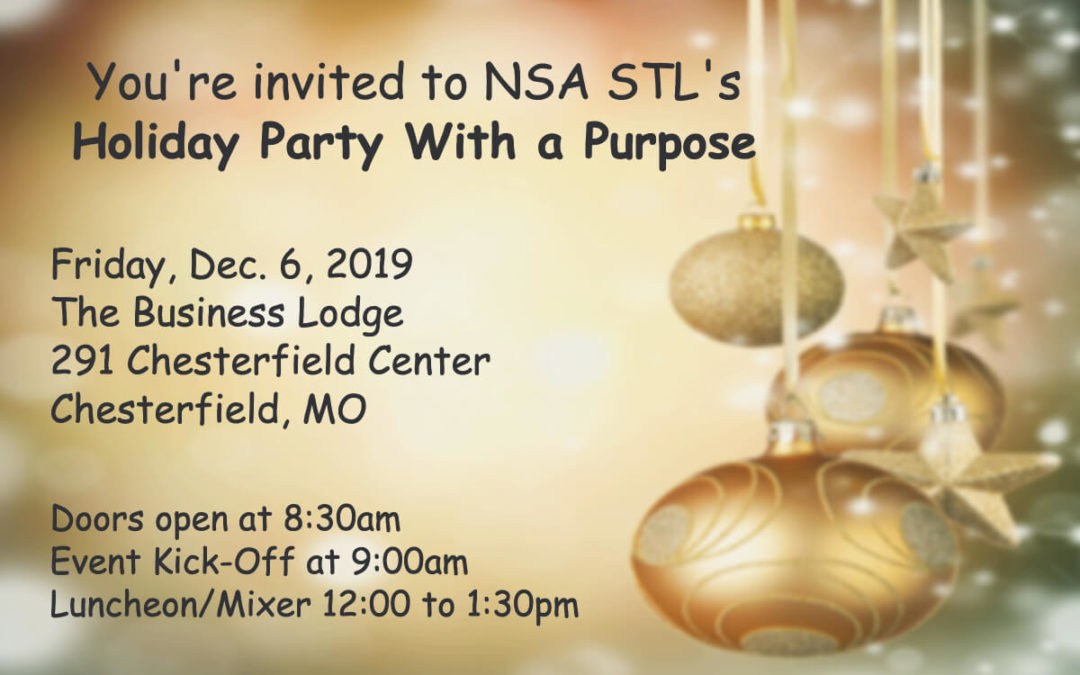 Dec. 6 – Holiday Party With a Purpose