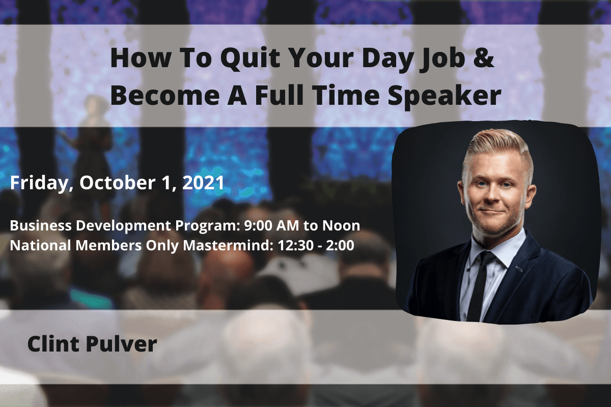 NSA St. Louis Featured Monthly Speaker Clint Pulver - October 2021