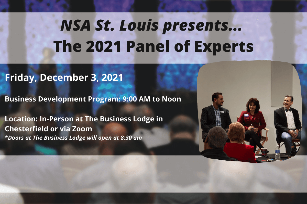 NSA St Louis Upcoming Events - Panel of Experts December 2021